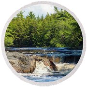 Mill Falls, Kejimkujik National Park, Nova Scotia Round Beach Towel