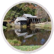 Round Beach Towel featuring the photograph Mill Reflections by Eric Liller
