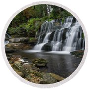 Mill Shoals Falls Round Beach Towel