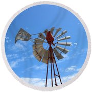 Round Beach Towel featuring the photograph Milled Wind by Stephen Mitchell