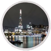 Millenium Bridge And The Shard Round Beach Towel