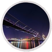 Millennium Bridge London  Round Beach Towel