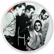 Million Dollar Quartet Round Beach Towel