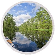 Milltail Creek Nc Round Beach Towel