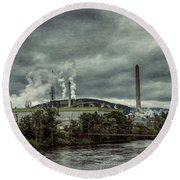 Round Beach Towel featuring the photograph Milltown by Guy Whiteley