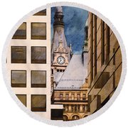 Milwaukee City Hall Round Beach Towel