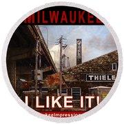 Milwaukee - I Like It - Thiele Tanning Round Beach Towel