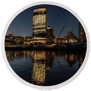 Milwaukee Reflections Round Beach Towel