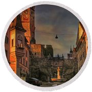 Round Beach Towel featuring the photograph Main Square by Hanny Heim