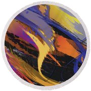 Mind Speed Round Beach Towel