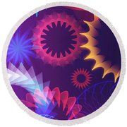 Mind Trips - Hipster Motion Round Beach Towel