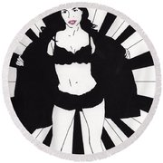 Mindy - Flash Round Beach Towel