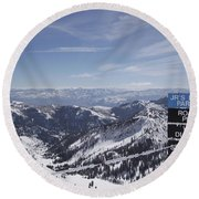 Mineral Basin Round Beach Towel