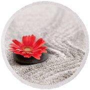 Mineral Flower Round Beach Towel