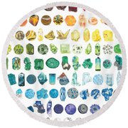 Mineral Marvels Round Beach Towel