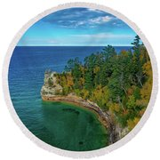 Miners Castle Round Beach Towel