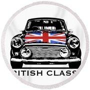 Mini British Classic Round Beach Towel