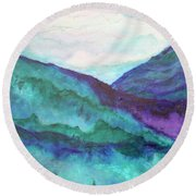 Mini Mountains Majesty Round Beach Towel