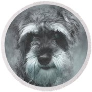 Mini Schnauzer Round Beach Towel