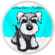 Miniature Schnauzer Round Beach Towel