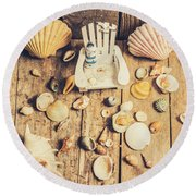 Miniature Sea Escape Round Beach Towel