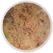 Round Beach Towel featuring the painting Minimal 7 by James W Johnson