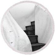 Minimal Staircase Round Beach Towel