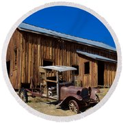 Mining Relic Round Beach Towel by Todd Kreuter