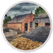 Round Beach Towel featuring the photograph Mining Village by Adrian Evans