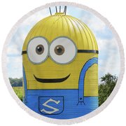 Minion Silo Round Beach Towel