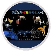 Minnamoolka Station Round Beach Towel
