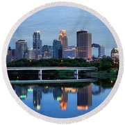 Minneapolis Reflections Round Beach Towel