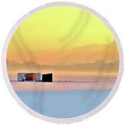 Minnesota Sunrise Round Beach Towel