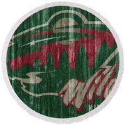 Minnesota Wild Round Beach Towel