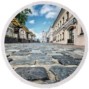 Minsk Old Town Round Beach Towel