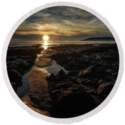 Minus Tide Round Beach Towel