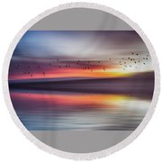 Mirage Round Beach Towel