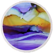 Mirage Round Beach Towel by Tracy Male