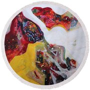 Mirage V Round Beach Towel