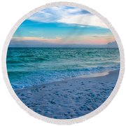 Miramar Blue  Round Beach Towel