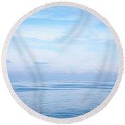 Mirror Calm 1 Round Beach Towel