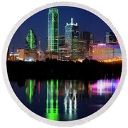 Mirror Colors Skyline Round Beach Towel