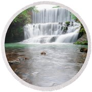 Mirror Lake Falls 2 Round Beach Towel