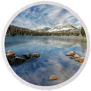 Mirror Lake Round Beach Towel