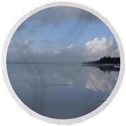 Mirror Ocean Water Round Beach Towel