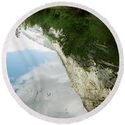 Mirrored Round Beach Towel by Kathy McClure