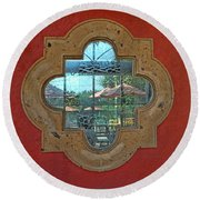 Mirrored Window Round Beach Towel