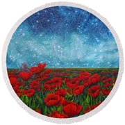 Mischling Round Beach Towel by Matt Konar