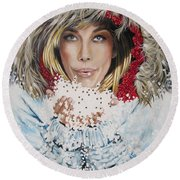 Remarkable Russian Girl.            From The Attitude Girls  Round Beach Towel