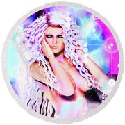 Miss Inter-dimensional 2089 Round Beach Towel